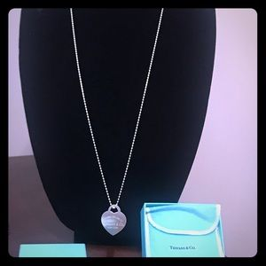 Return to Tiffany Large Heart Tag Necklace